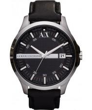 Armani Exchange AX2101 Mens Black Leather Strap Dress Watch