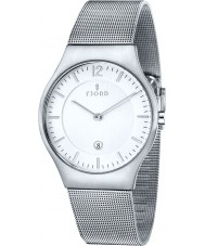 Fjord FJ-3005-22 Mens Olle 2 Hand Silver Mesh Slim Watch