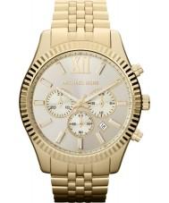 Michael Kors MK8281 Mens Lexington Gold Plated Chronograph Watch