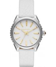 Diesel DZ5501 Ladies Nuki White Leather Strap Watch