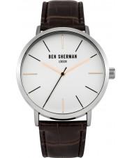 Ben Sherman WB054BR Mens Brown Leather Strap Watch