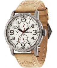 Timberland 14812JSU-07 Mens Erving Beige Leather Strap Watch