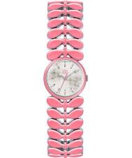 Orla Kiely OK4046 Ladies Laurel Pink Steel Bracelet Watch