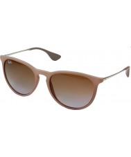 Ray-Ban RB4171 54 Erika Dark Rubber Sand 600068 Sunglasses