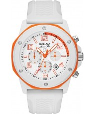 Bulova 98B199 Mens Marine Star White Chronograph Watch