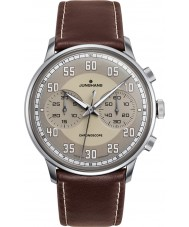 Junghans 027-3684-00 Meister Driver Brown Chronoscope Automatic Watch