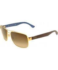 RayBan RB3530 58 Highstreet Gold 001-13 Gradient Sunglasses