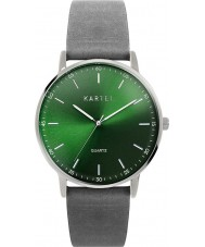 Kartel KT-HUME-SGS Hume Grey Leather Strap Watch