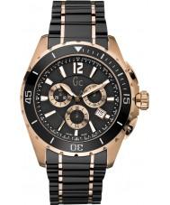 Gc X76004G2S Mens Sport Class XXL Black Chronograph Watch