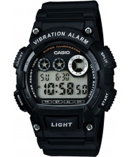 Casio W-735H-1AVEF Collection Dual Time Black Resin Strap Watch