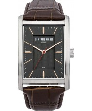 Ben Sherman WB013E Mens Clerkenwell Professional Brown Leather Strap Watch