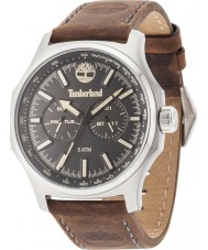 Timberland 14813JS-02 Mens Shermand Dark Brown Leather Strap Watch