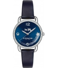 Coach 14502668 Ladies Delancey Blue Navy Leather Strap Watch