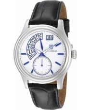 S Coifman SC0289 Mens Black Leather Strap Watch