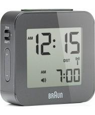 Braun BNC008GY-RC Grey Digital Travel Alarm Clock
