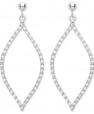Purity 925 PUR3826ED Ladies 925 Sterling Silver Open Drop Earrings