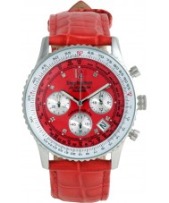 Krug Baümen 400509DS Air Traveller Red Dial Red Strap