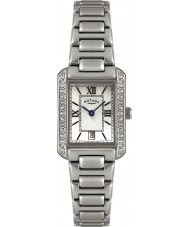 Rotary LB02650-41 Ladies Timepieces Crystal Bezel White Steel Watch