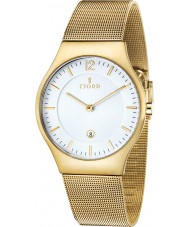 Fjord FJ-3005-44 Mens Olle 2 Hand Gold Mesh Slim Watch