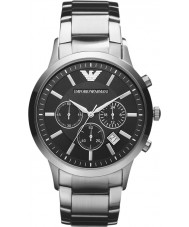 Emporio Armani AR2434 Mens Classic Chronograph Black Silver Watch