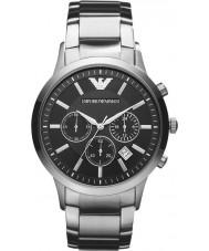 Emporio Armani AR2434 Mens Classic Chronograph Black Silver Watch