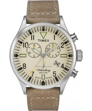 Timex TW2P84200 Mens Waterbury Tan Leather Strap Chronograph Watch