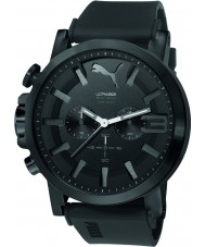 Puma PU103981002 Ultrasize 50 Bold Black Silicone Strap Chronograph Watch