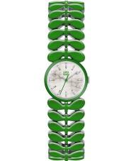 Orla Kiely Ladies Laurel Green Steel Bracelet Watch