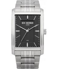 Ben Sherman WB013BM Mens Black and Steel Bracelet Watch