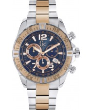 Gc Y02002G7 Mens SportRacer Rose Gold Plated Chronograph Watch