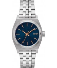Nixon A1130-2195 Ladies Medium Time Teller Silver Watch