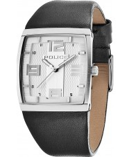 Police 13937MS-04 Vision X Silver and Black Leather Strap Watch