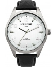 Ben Sherman WB022S Mens Big Carnaby Heritage Black Leather Strap Watch