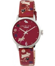 Radley Ladies Red Spottie Dog Print Strap Watch