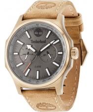 Timberland 14813JSK-61 Mens Shermand Beige Leather Strap Watch