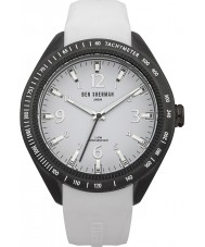 Ben Sherman WB012W Mens All White Silicone Strap Watch