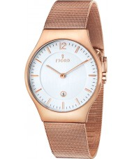 Fjord FJ-3005-55 Mens Olle 2 Hand Rose Gold Mesh Slim Watch