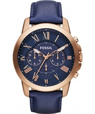 Fossil FS4835 Mens Grant Chronograph Navy Watch