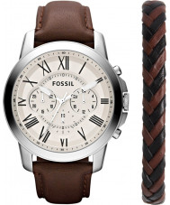 Fossil FS5527IESET Mens Grant Watch and Bracelet Gift Set