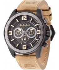 Timberland 14814JSBU-02 Mens Upton Beige Leather Strap Watch