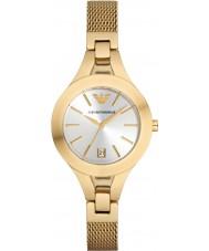 Emporio Armani Ladies Gold Plated Mesh Bracelet Dress Watch