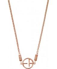 Emporio Armani EG3197221 Ladies Revealed Identity Rose Gold Plated Necklace