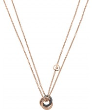 Emporio Armani EG3084221 Ladies Architectural Interlock Rose Gold Plated Necklace