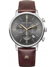 Maurice Lacroix EL1098-SS001-311-1 Mens Eliros Brown Leather Strap Chronograph Watch