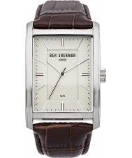 Ben Sherman WB013BR Mens Cream and Brown Leather Strap Watch