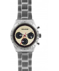 Zadig and Voltaire ZVM103 Master Silver Steel Chronograph Watch