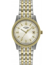Rotary GB00793-09 Mens Ultra Slim Two Tone Watch