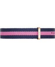 Daniel Wellington DW00200065 Ladies Classy Winchester 26mm Rose Gold Blue and Pink Nylon Spare Strap