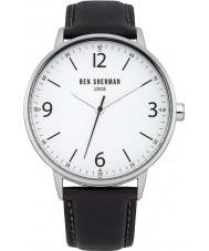 Ben Sherman WB023B Mens Portabello Casual Black Leather Strap Watch