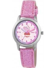 Peppa Pig PP011 Girls Time Teacher Watch with Pink Sparkly PU Strap